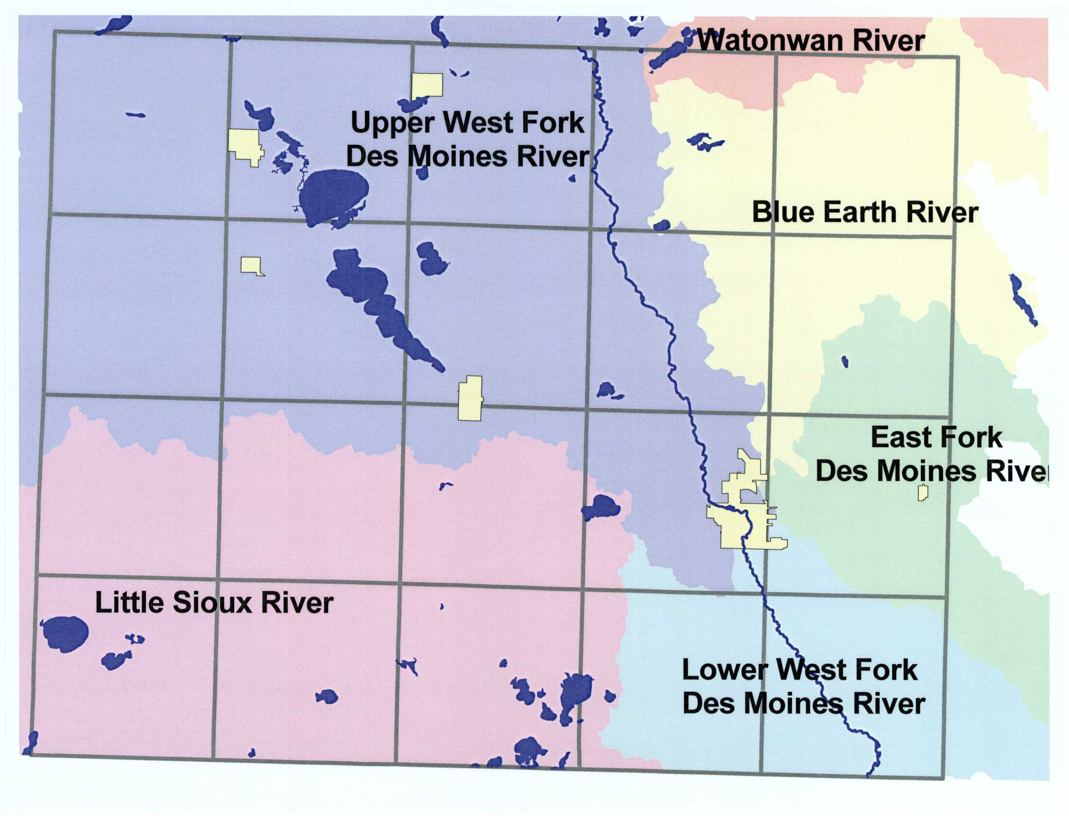 Maps jackson county minnesota county watershed map publicscrutiny Image collections